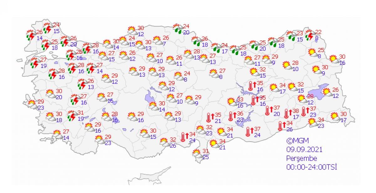 Marmara için sağanak ve kuvvetli rüzgar uyarısı #1