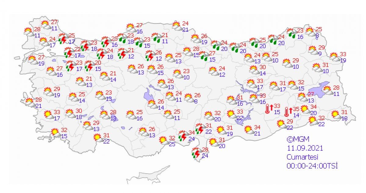 Marmara için sağanak ve kuvvetli rüzgar uyarısı #3