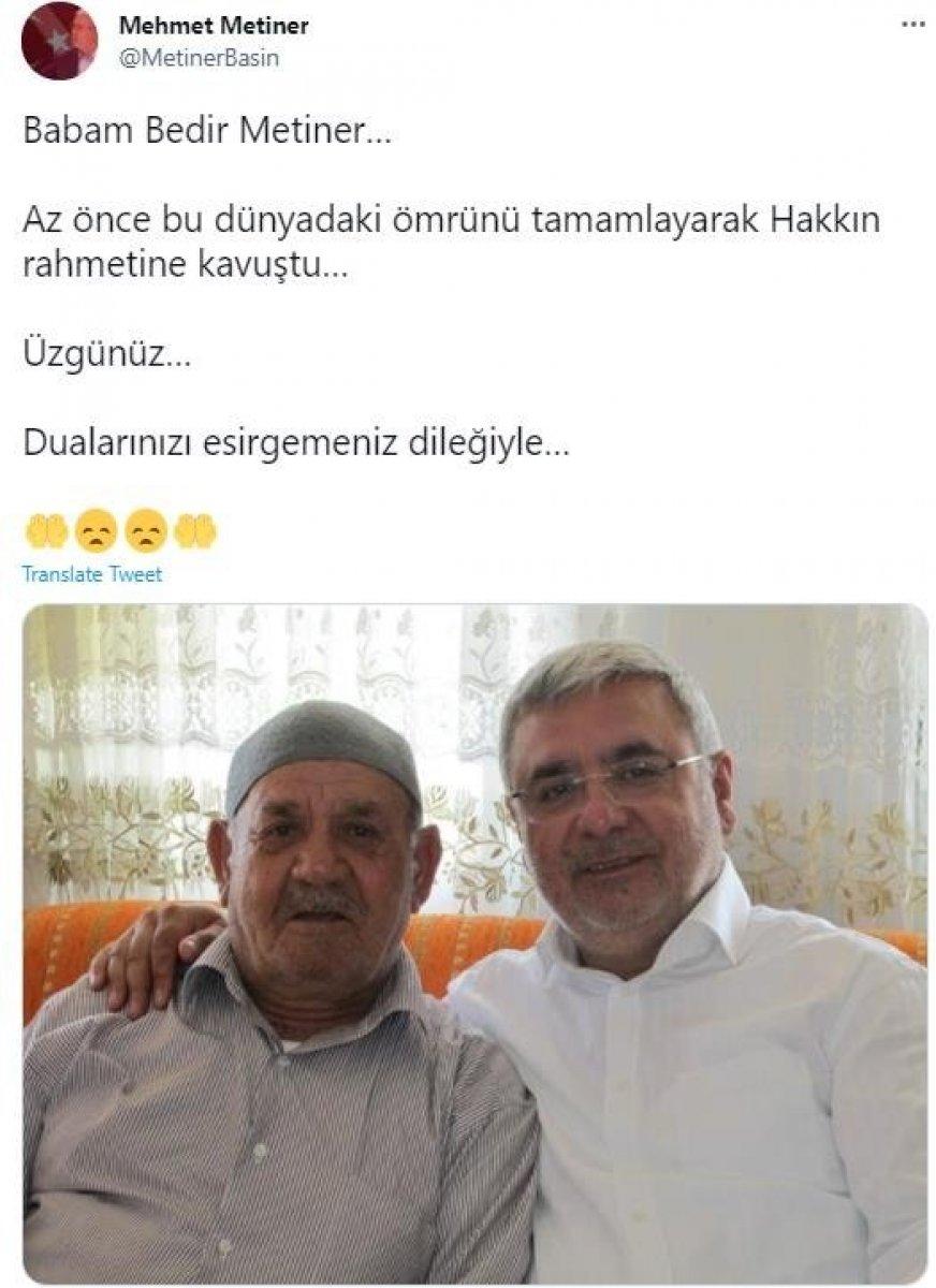 Mehmet Metiner in babası hayatını kaybetti #1