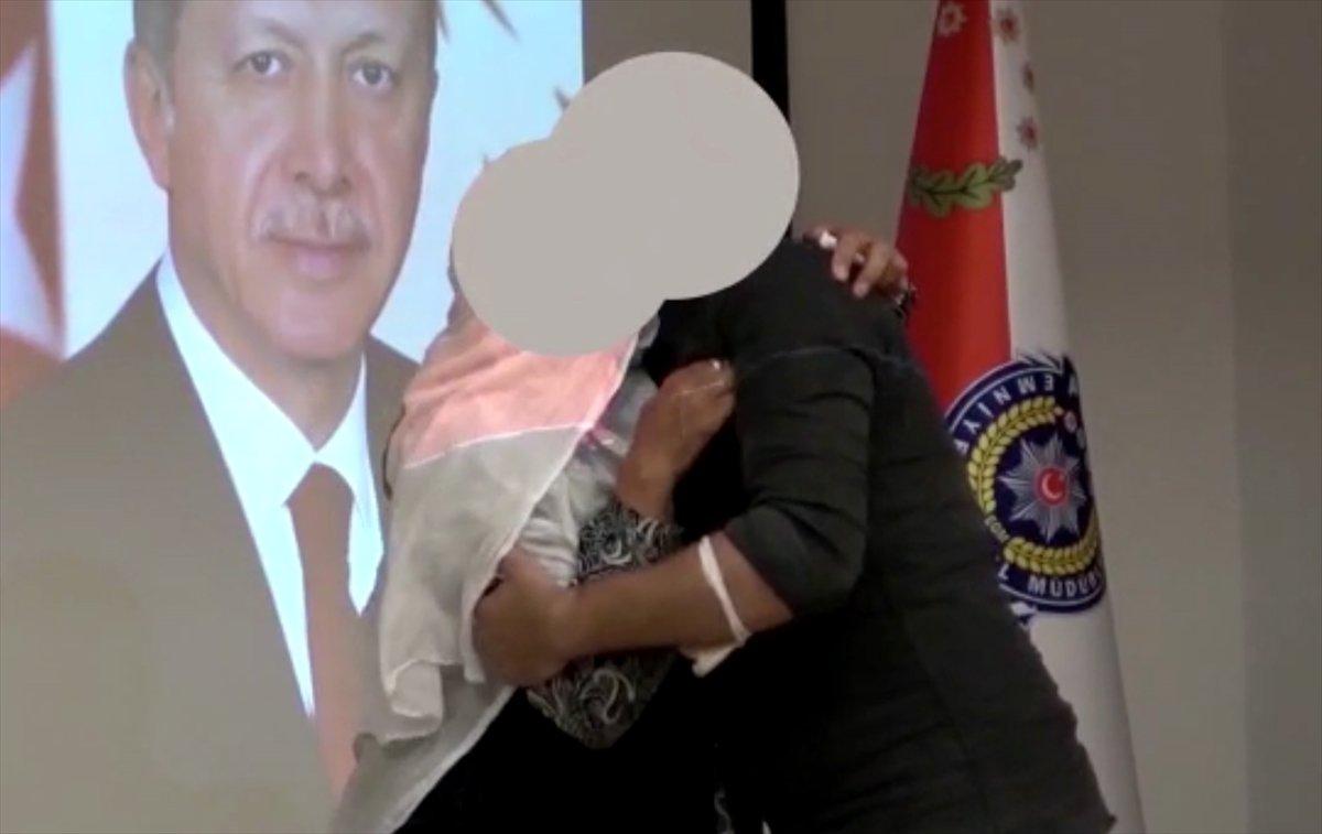 Mersin'de teslim olan terörist, ailesi ile buluşturuldu #2