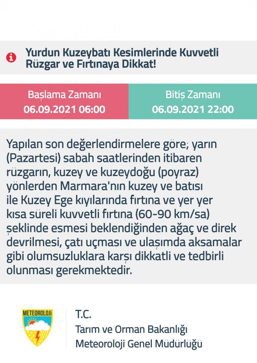 Meteoroloji den Marmara için sağanak ve gök gürültülü sağanak uyarısı #2