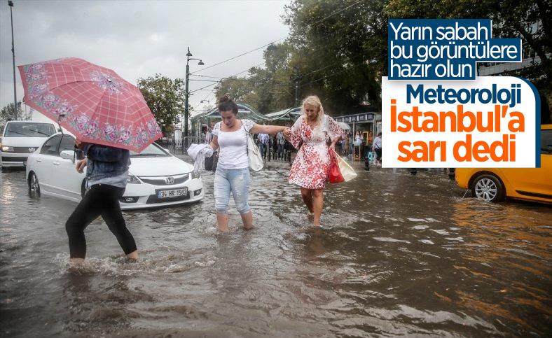 Meteoroloji'den Marmara için sağanak ve gök gürültülü sağanak uyarısı
