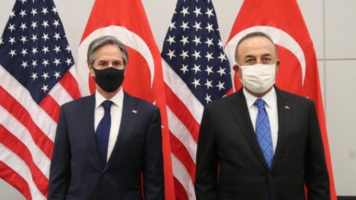 Mevlüt Çavuşoğlu, ABD li mevkidaşı Blinken ile görüştü #1