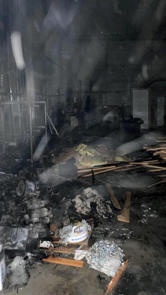 Muğla daki santralin marangoz atölyesinde yangın çıktı #2