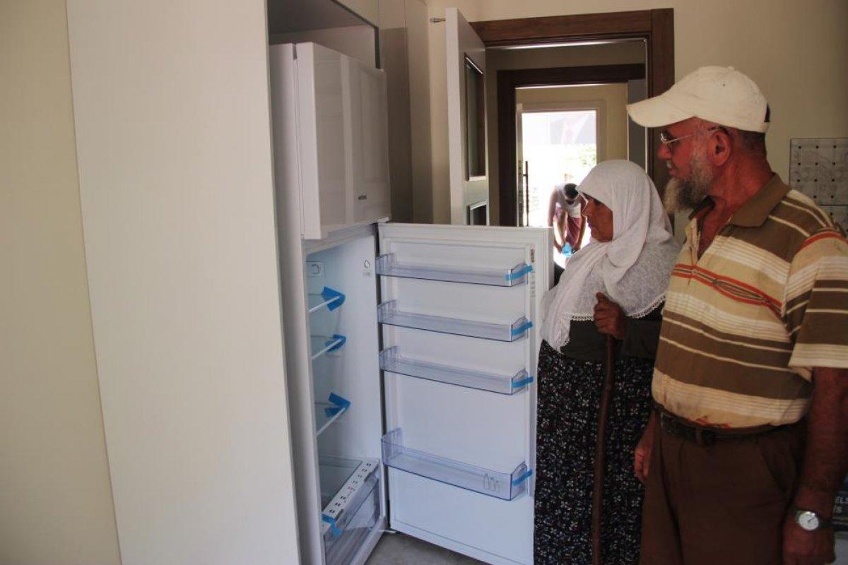 Muğla daki yangında evleri yanan çiftin yeni evleri tamamlandı #8