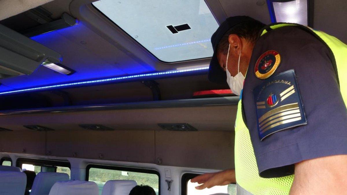 Muş ta görevli timler servis araçlarını drone ile denetledi #3