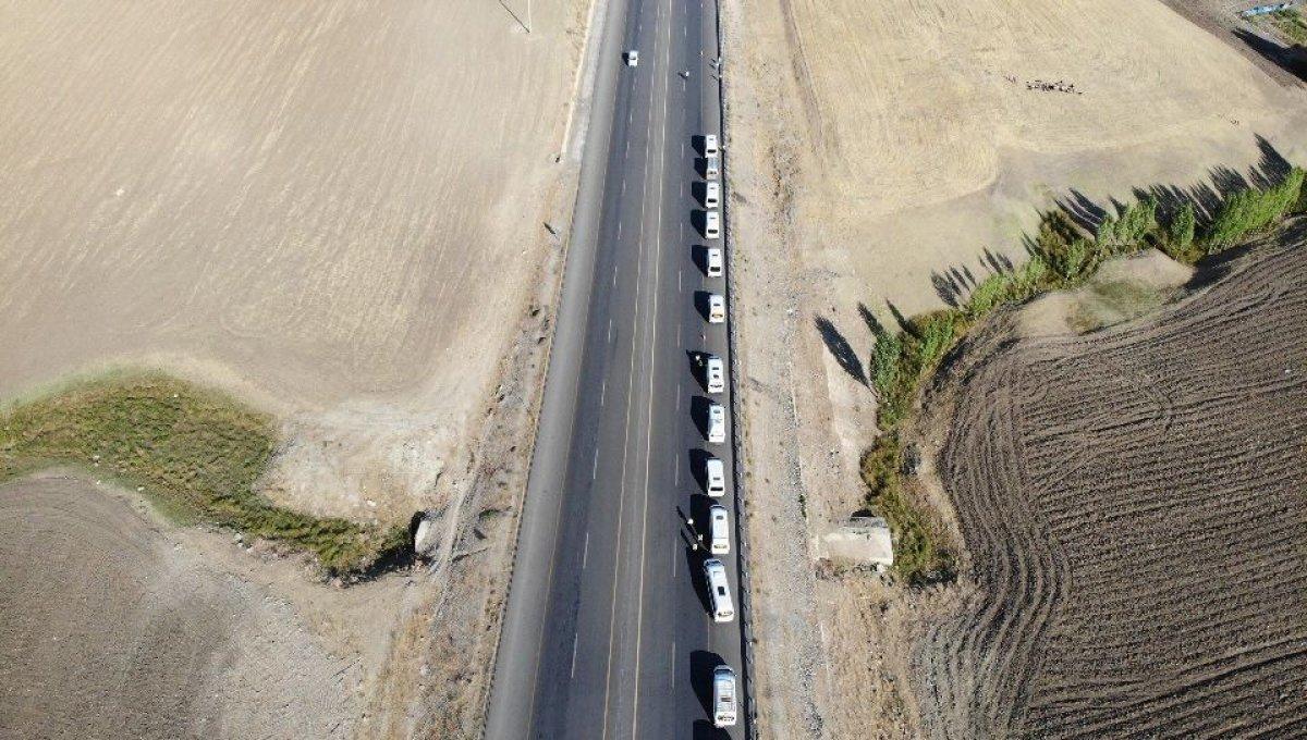 Muş ta görevli timler servis araçlarını drone ile denetledi #7