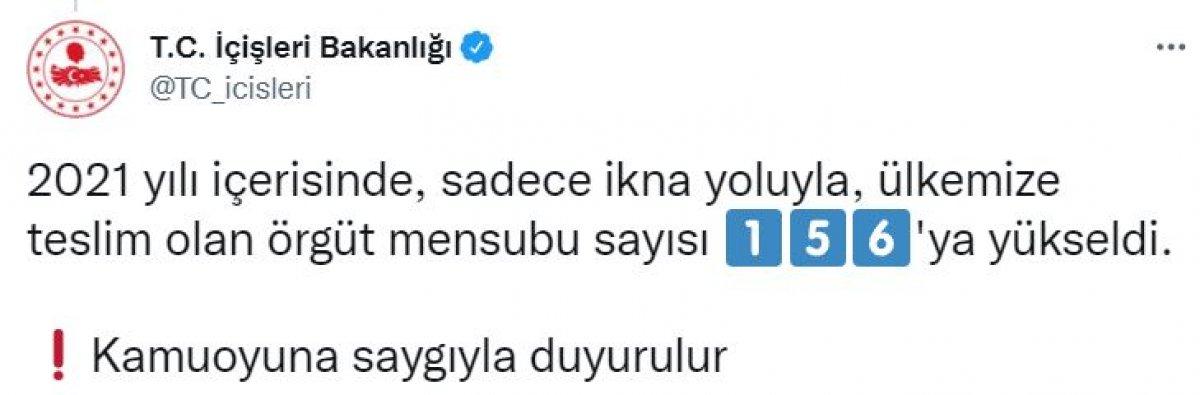 PKK dan kaçan bir örgüt mensubu teslim oldu #2