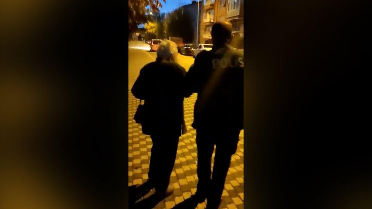 Sakarya da yaşlı kadın ısrar edince, polis evine bıraktı #1