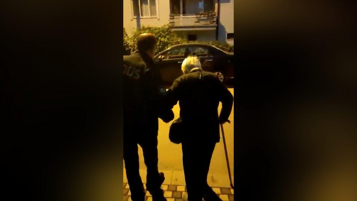Sakarya da yaşlı kadın ısrar edince, polis evine bıraktı #3