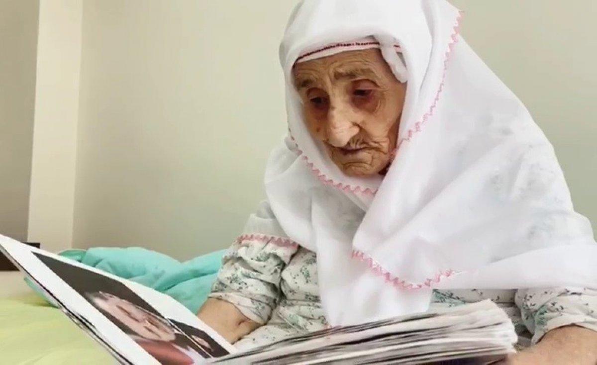 Samsun da 98 yaşındaki Sariye Nine nin, Cumhurbaşkanı Erdoğan sevgisi #1