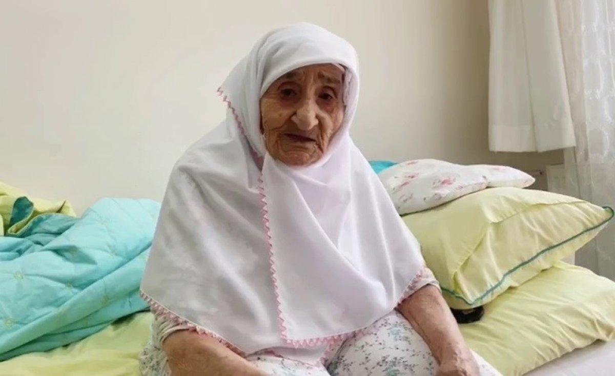 Samsun da 98 yaşındaki Sariye Nine nin, Cumhurbaşkanı Erdoğan sevgisi #2