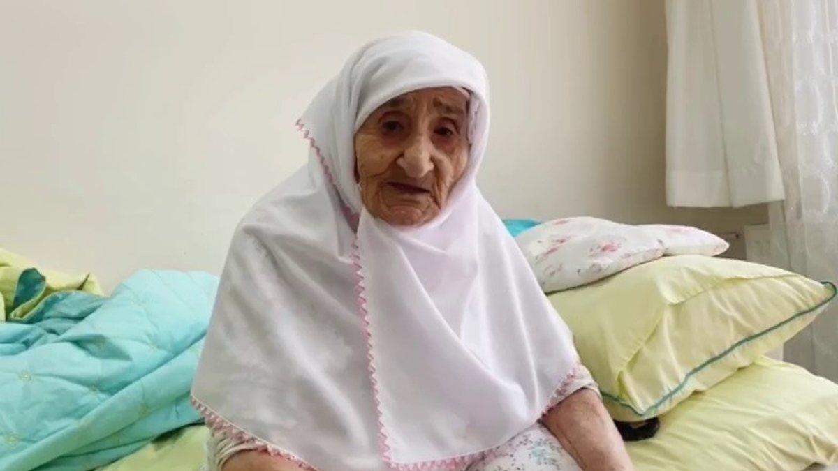Samsun'da 98 yaşındaki Sariye Nine'nin, Cumhurbaşkanı Erdoğan sevgisi