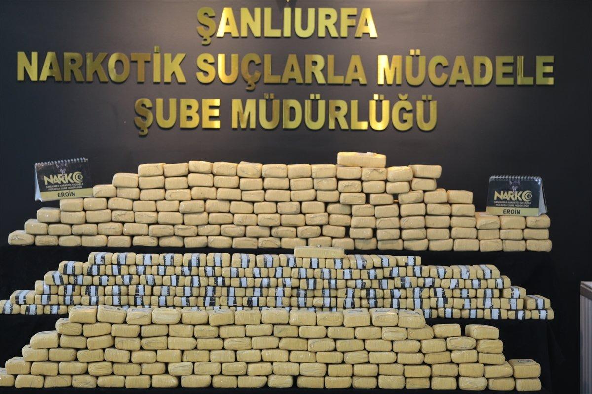 Şanlıurfa da 275 kilogram eroin yakalandı #5
