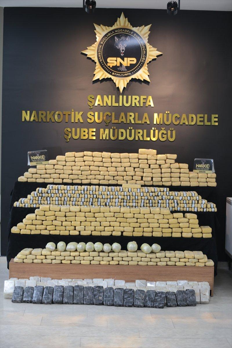 Şanlıurfa da 275 kilogram eroin yakalandı #6