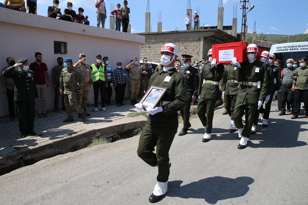 Şehit Turgay Abacı Hatay'da son yolculuğuna uğurlandı #6