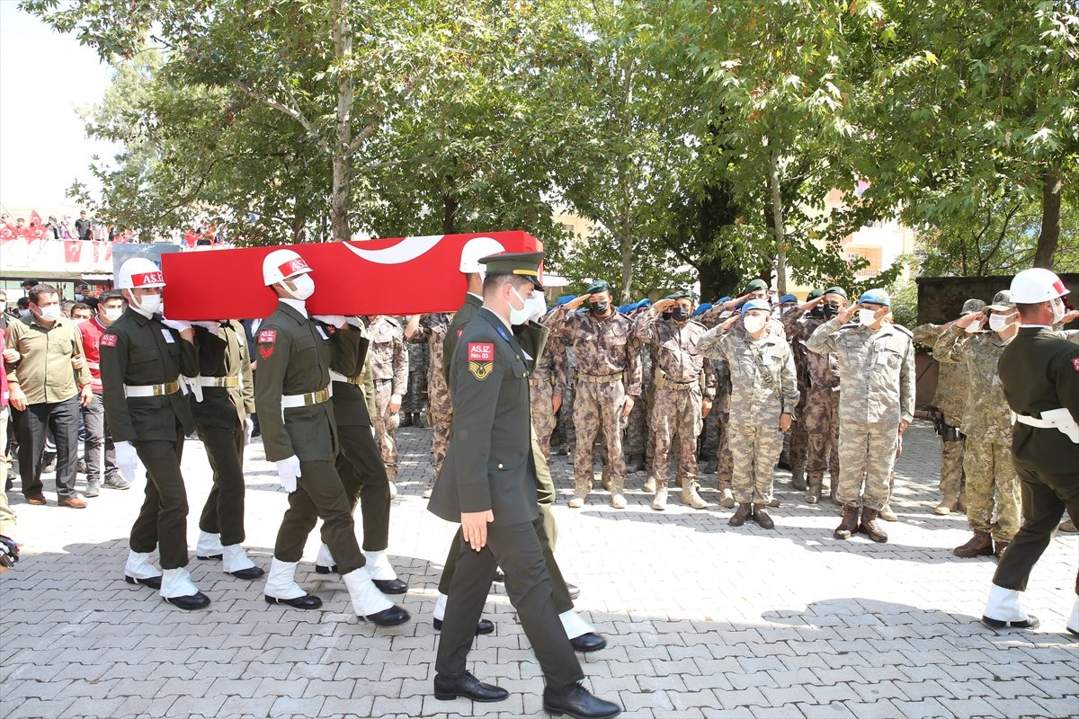 Şehit Turgay Abacı Hatay'da son yolculuğuna uğurlandı #9