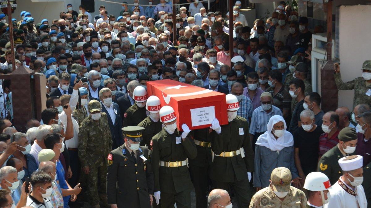 Şehit Turgay Abacı Hatay'da son yolculuğuna uğurlandı