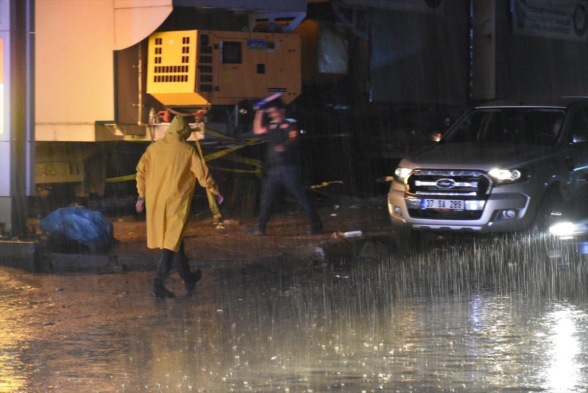 Sel felaketinin yaşandığı Kastamonu Bozkurt ta sağanak yağış #3