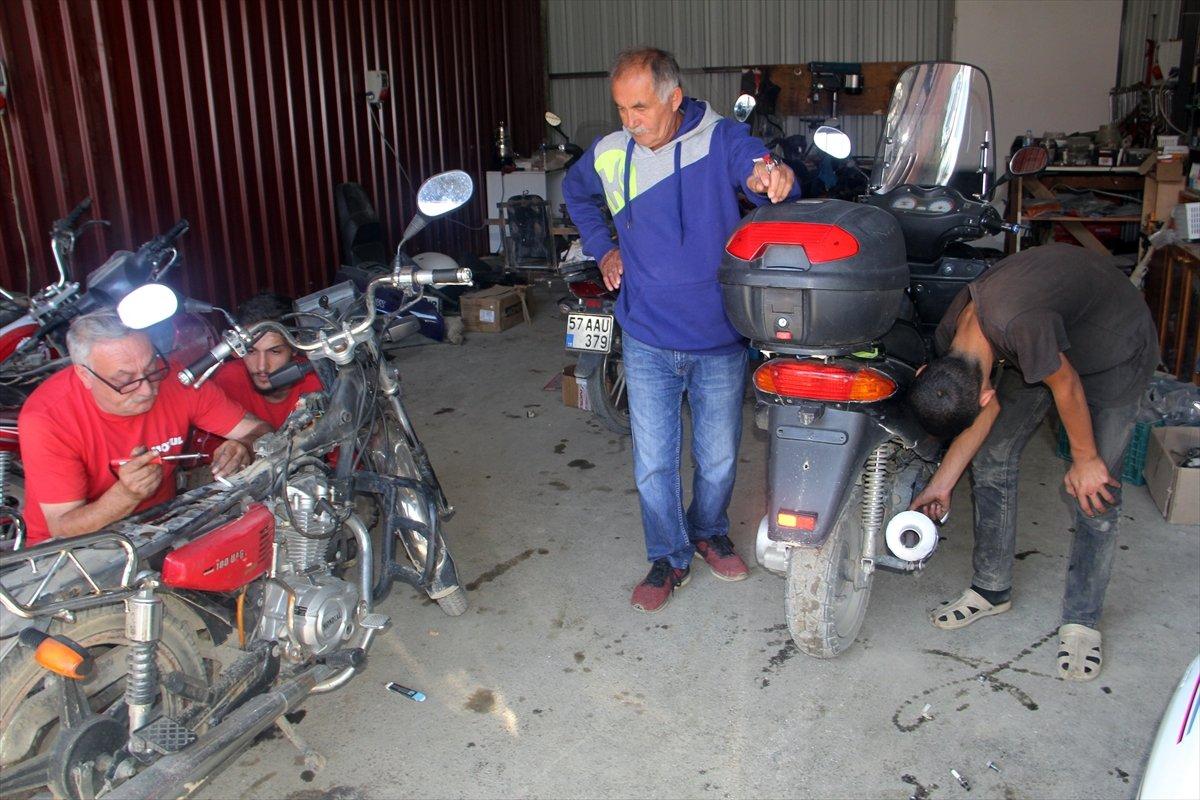 Sinop'ta sel mağduru esnaf, geçici iş yerlerine yerleştirildi #2