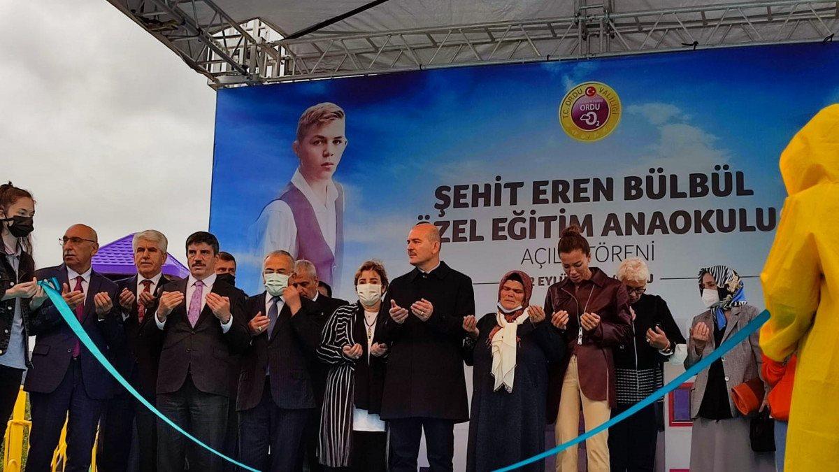 Süleyman Soylu, Eren Bülbül adına yapılan okulun açılışına katıldı