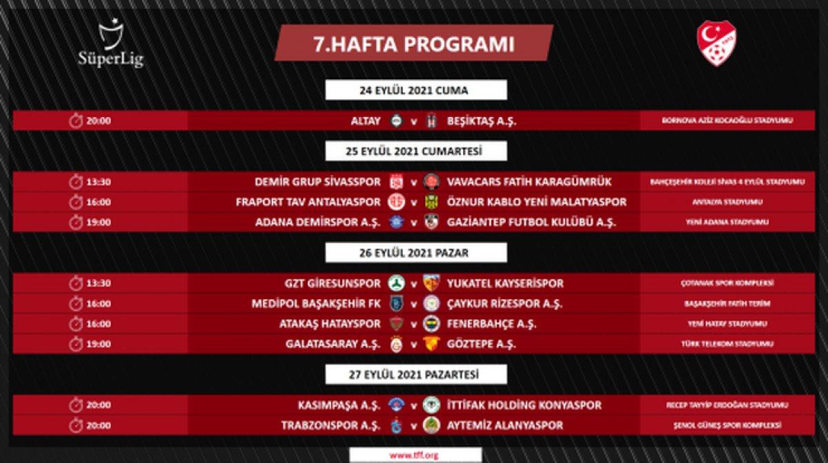 Süper Lig de 4 ile 16.hafta arası programı açıklandı #4