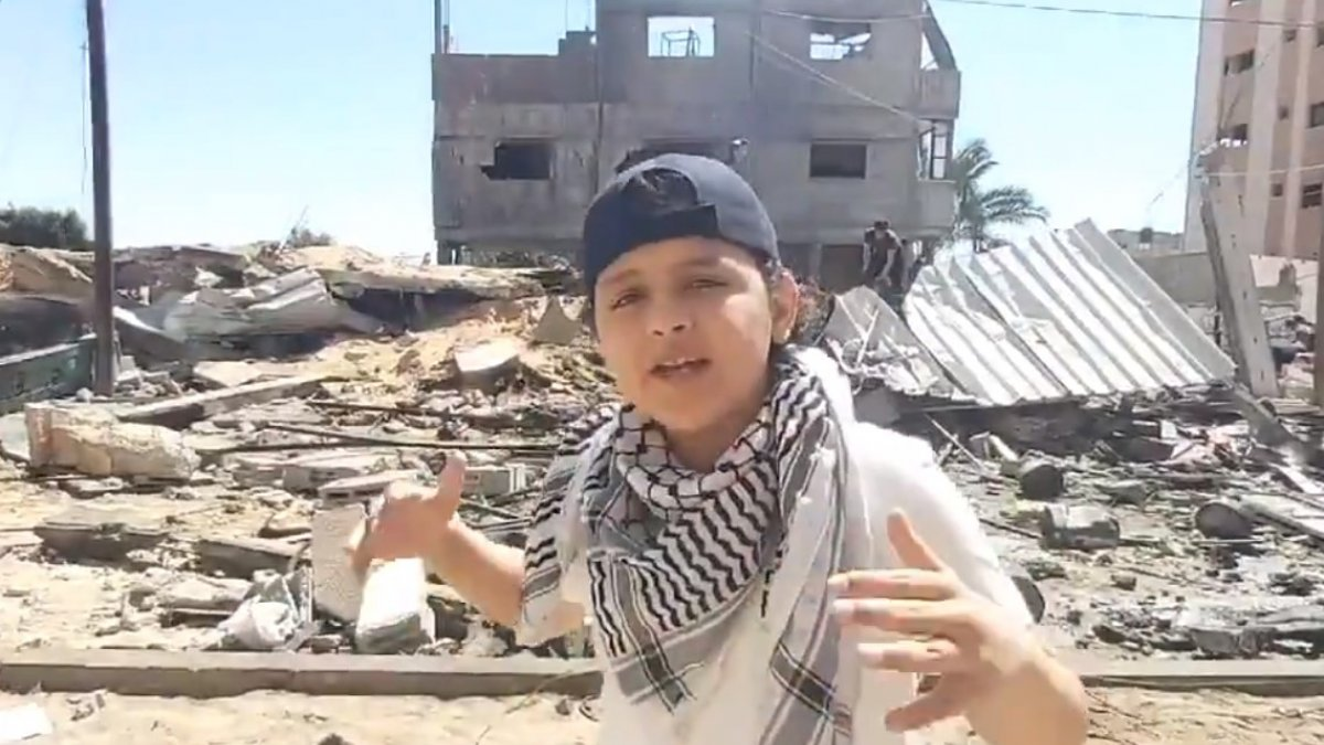 13 yaşındaki Filistinli çocuktan dünyaya haykırış