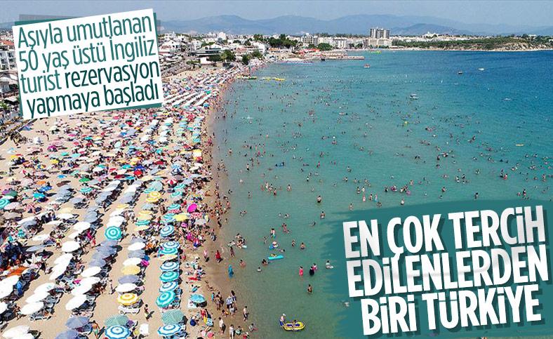 50 yaş üstü İngiliz turist yaz tatili için Türkiye'yi tercih ediyor