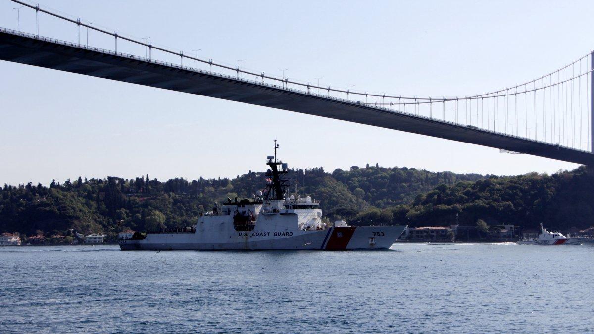 ABD gemisi Karadeniz'den ayrıldı
