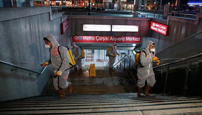 Ankara'da metro ve Ankaray istasyonlarında 'virüs' temizliği