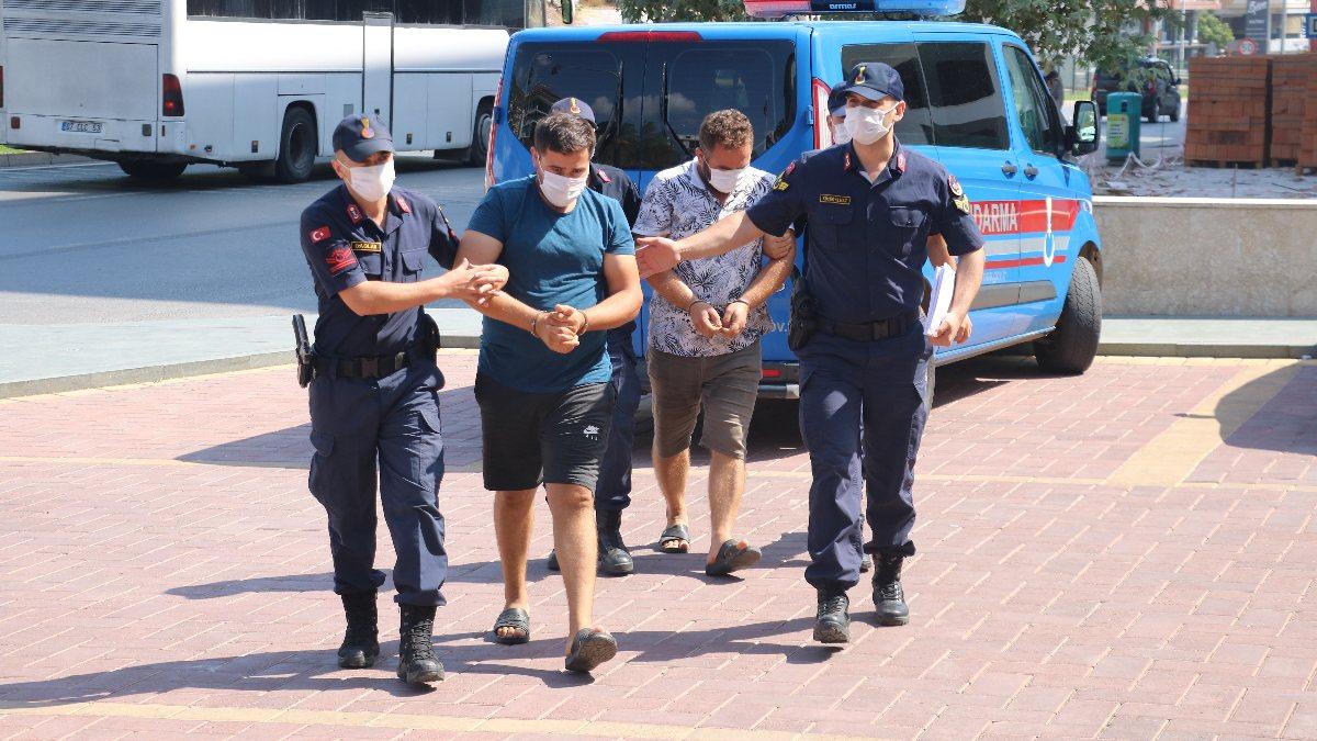 Antalya'da 1 ton bakır çaldılar: Yakalandılar