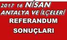 Antalya ve İlçeleri referandum kesin sonuçları 2017