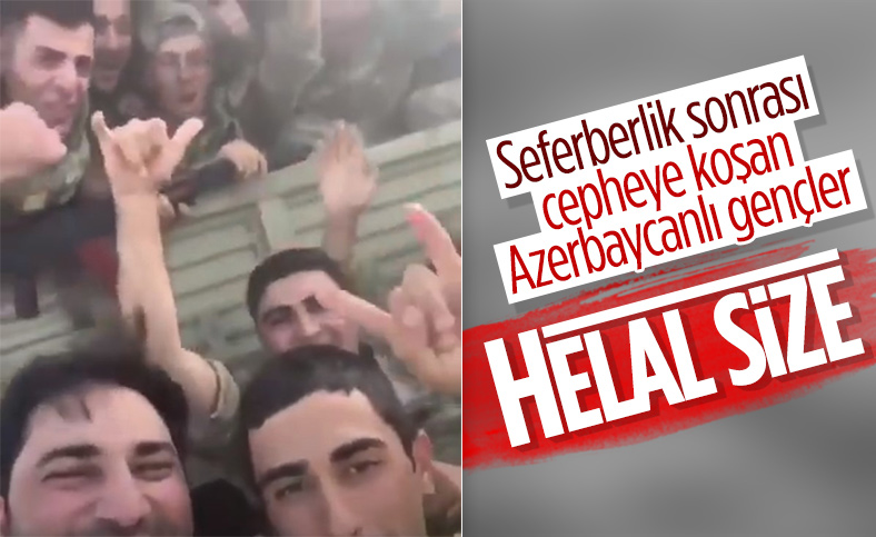 Azerbaycan askerlerinin keyifleri yerinde