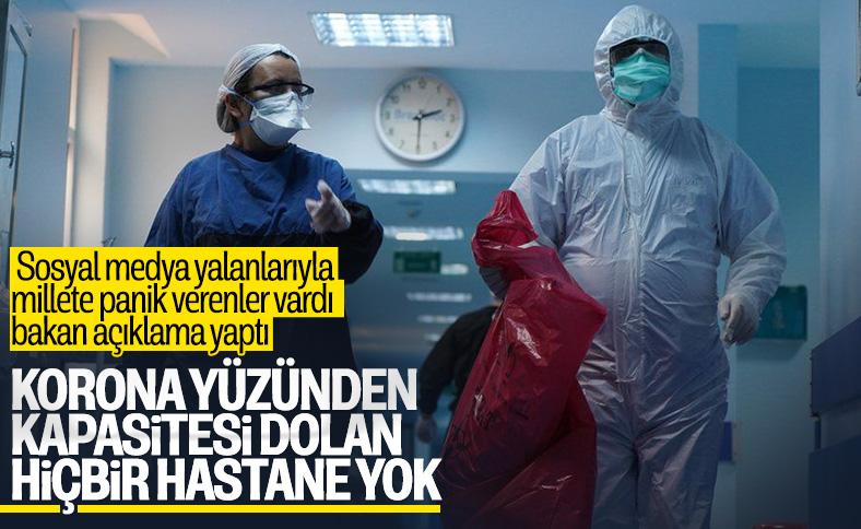 Bakan Koca'dan 'hastanelerin dolduğu' iddiasına cevap