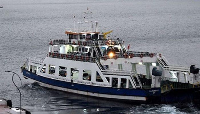 Bozcaada feribot seferlerine fırtına engeli