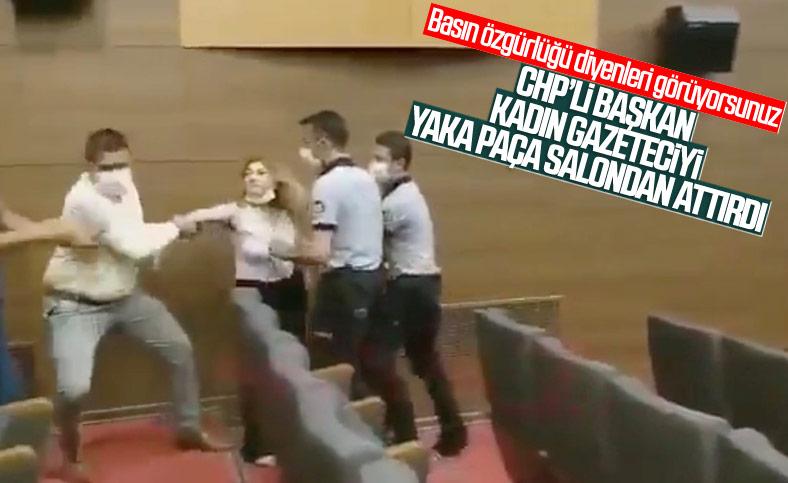 CHPli belediye başkanı kadın gazeteciyi...