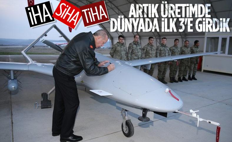 Cumhurbaşkanı Erdoğan: İHA üretiminde dünyanın ilk 3-4 ülkesi arasındayız