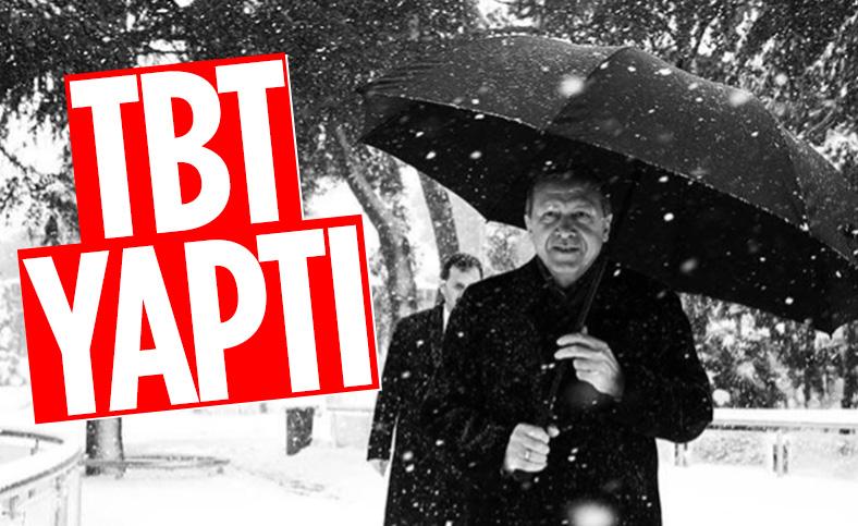 Cumhurbaşkanı Erdoğan Instagram'dan paylaştı: Birkaç yıl öncesinden bir kar hatırası