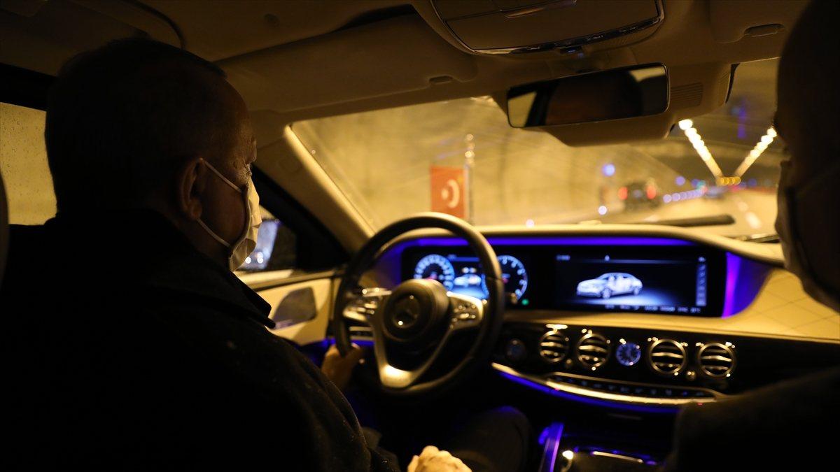 Cumhurbaşkanı Erdoğan, Kuzey Marmara Otoyolu'nda araç sürdü