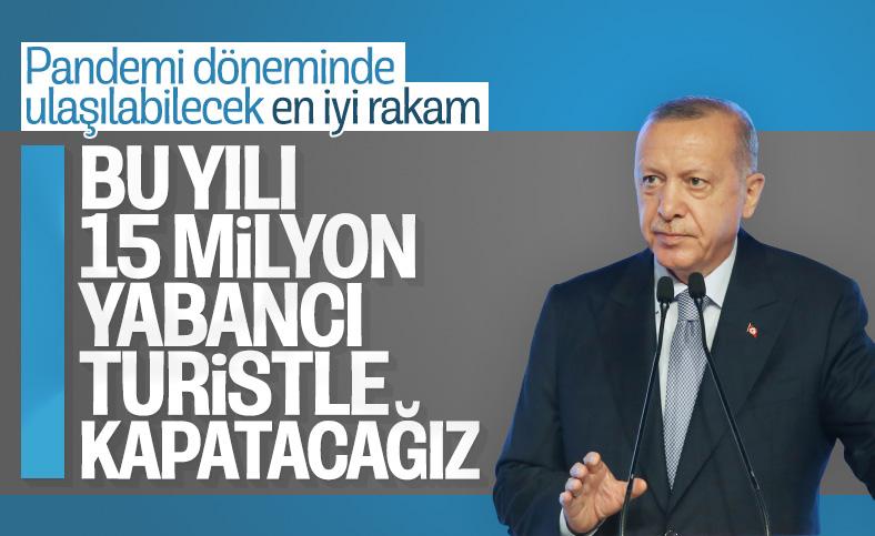 Cumhurbaşkanı Erdoğan: Turizmde yılı 15 milyonun üzerinde turistle kapatacağız