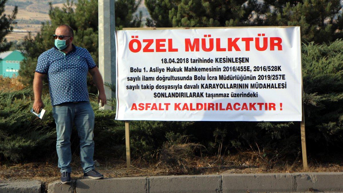 D-100 karayolu Ankara yönü kapanmakla...