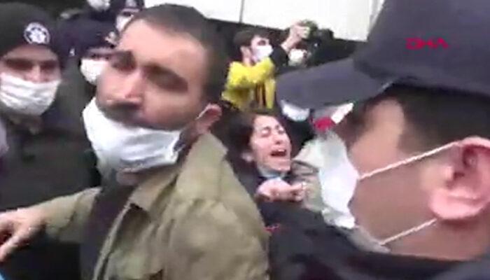 DİSK önündeki gruba gözaltının yeni görüntüleri paylaşıldı