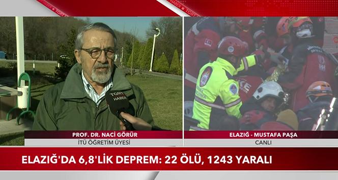 Elazığ depremini 3 ay önce tahmin eden Prof. Görür TGRT Haber'de