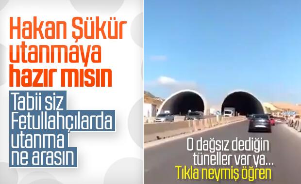 Hakan Şükür dağsız tünel yalanını paylaştı