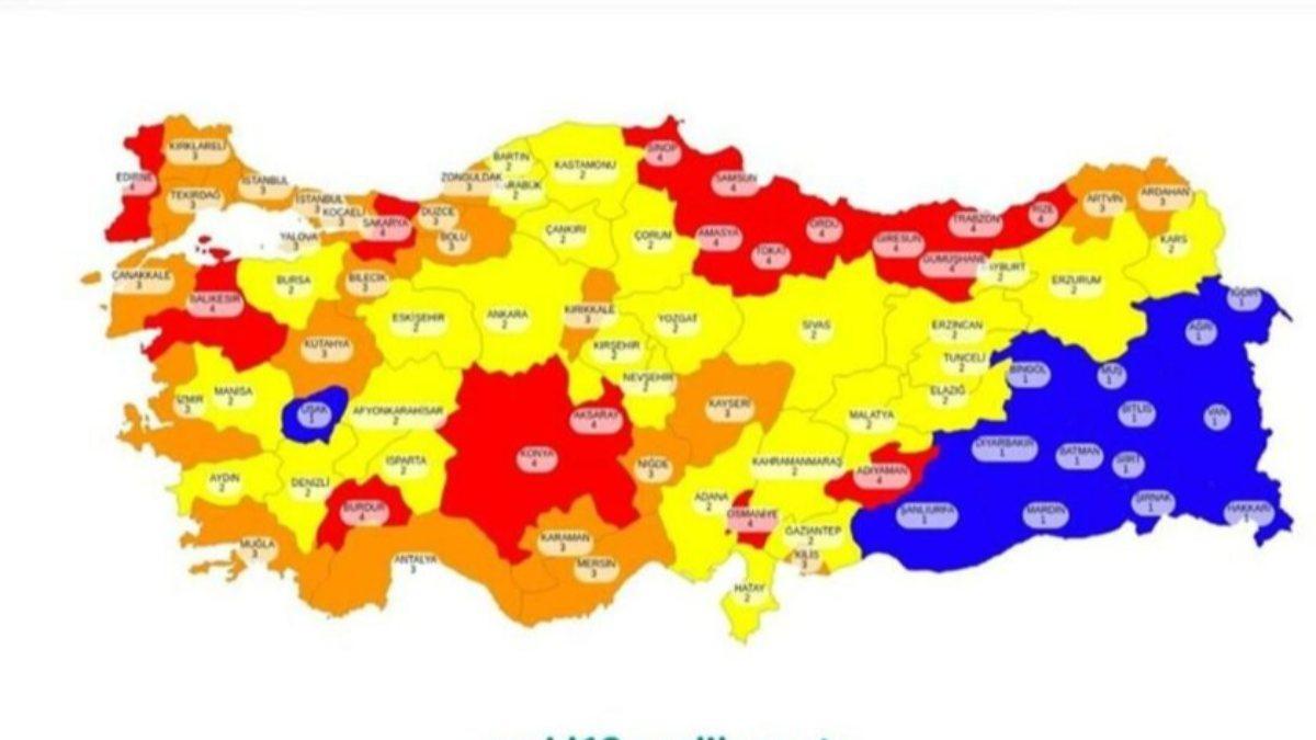 Hangi iller düşük, hangi iller yüksek riskli? Türkiye'de risk gruplarına göre illerin listesi..