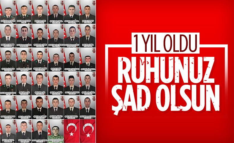 İdlib'de 36 askerimizin şehit olmasının üzerinden 1 yıl geçti