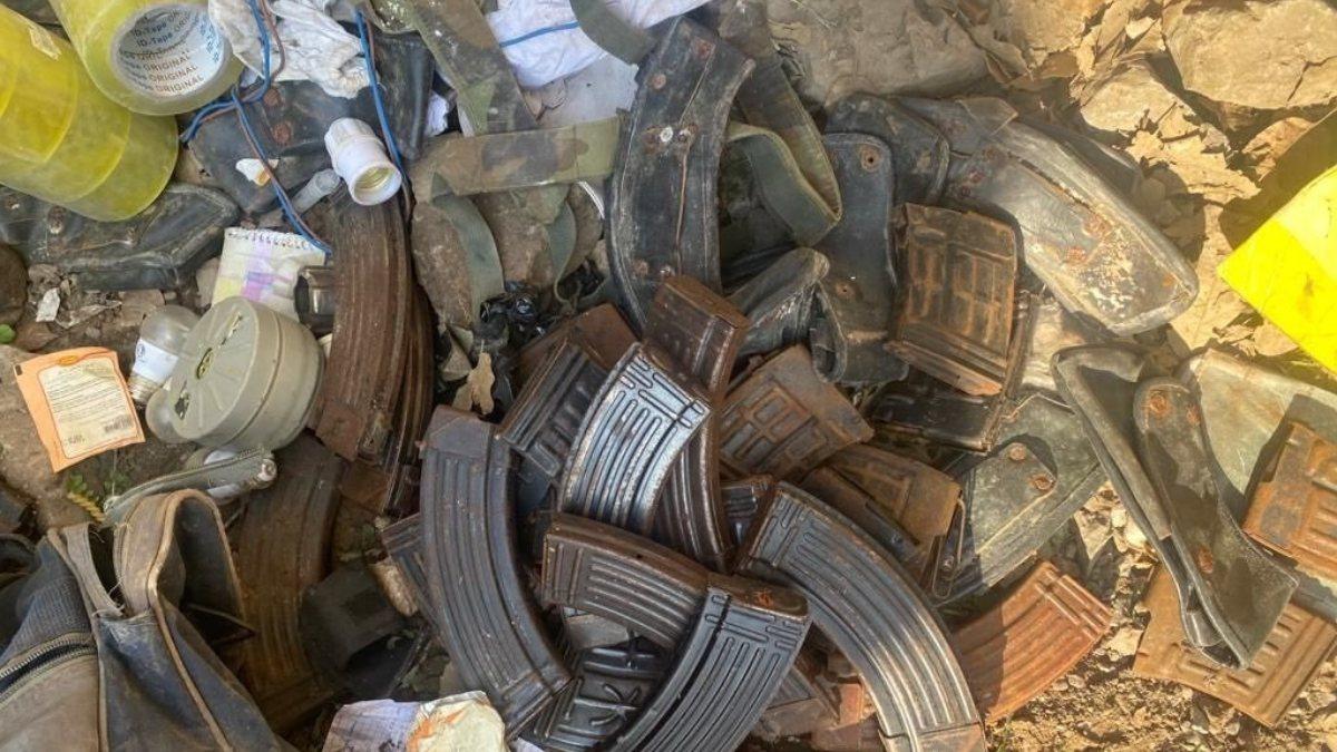 Irak'ın kuzeyinde, PKK'ya ait mühimmatlar ele geçirildi
