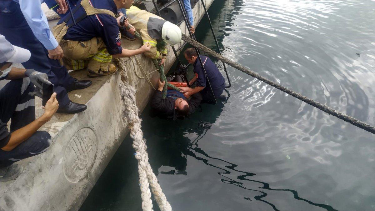 İstanbul'da denize düşen adama 'virüs var' deyip yardım etmediler