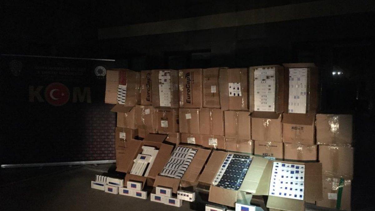Kahramanmaraşta 30 bin paket kaçak...
