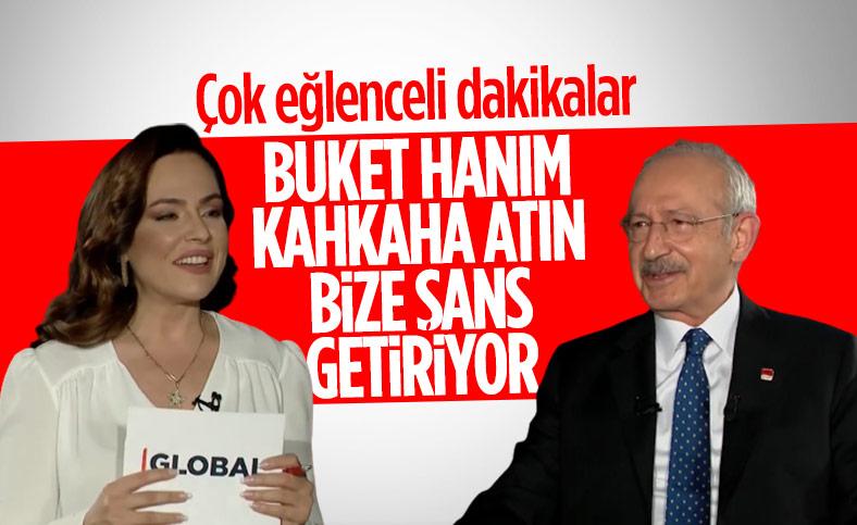 Kemal Kılıçdaroğlu'ndan Buket Aydın'a: Gülüşünüz şans getiriyor